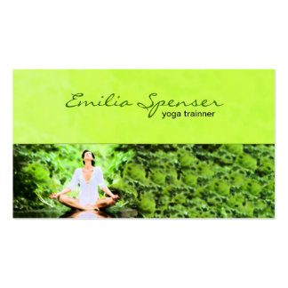 Lime Green Yoga Training Business Card