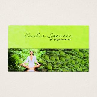 Lime Green Yoga Training Business Card