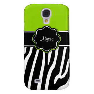 Lime Green Zebra Personalized Phone Case