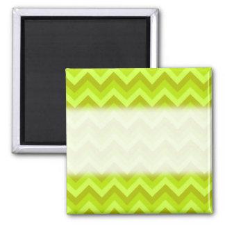 Lime Green Zig Zag Pattern. Refrigerator Magnet