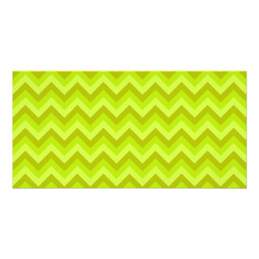 Lime Green Zig Zag Pattern. Photo Card
