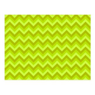 Lime Green Zig Zag Pattern. Postcard