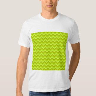 Lime Green Zig Zag Pattern. T Shirt