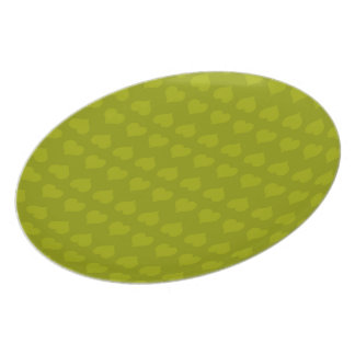 Lime GreenHearts-Two Tone Plate
