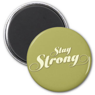 Lime Gren Encouragement Stay Strong Round Magnet