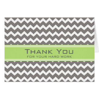 Lime Grey Chevron Employee Anniversary Card