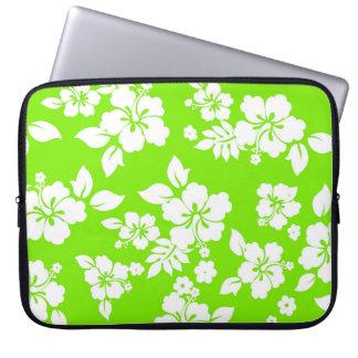 Lime Hawaiian Laptop Computer Sleeve