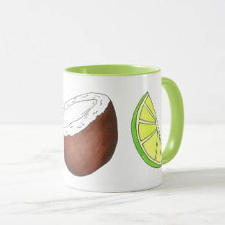 Lime in the Coconut Tropical Island Fruit Citrus Mug