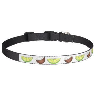 Lime in the Coconut Tropical Island Fruit Green Pet Collar