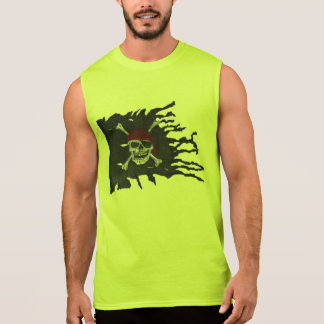 Lime Jolly Roger Sleeveless Shirt