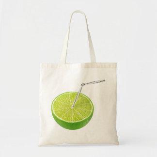 Lime juice budget tote bag