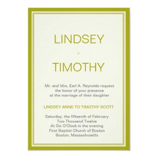 Lime Light Wedding Invitation