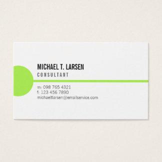 Lime Line White Minimalist Business Card