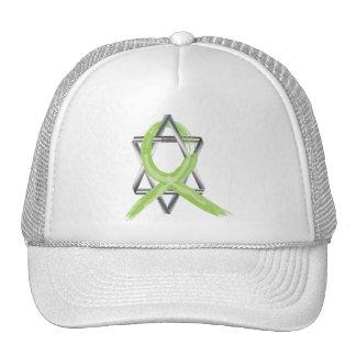 Lime Lymphoma Cancer Survivor Ribbon Hat