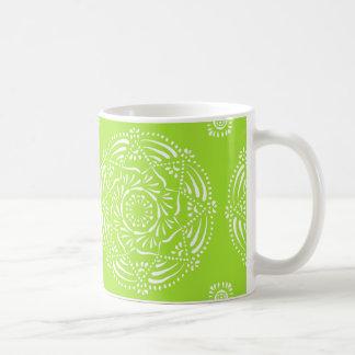 Lime Mandala Coffee Mug