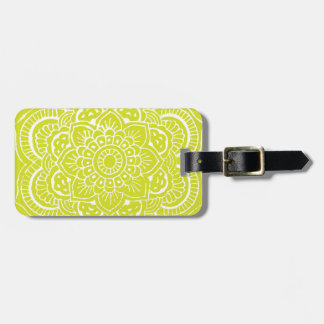LIME MANDALA LUGGAGE TAG