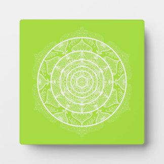 Lime Mandala Plaque