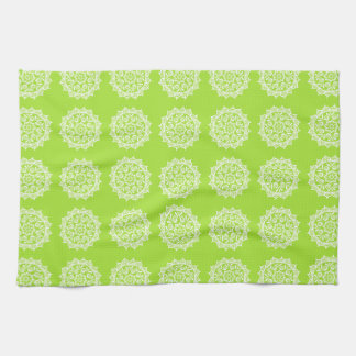 Lime Mandala Tea Towel