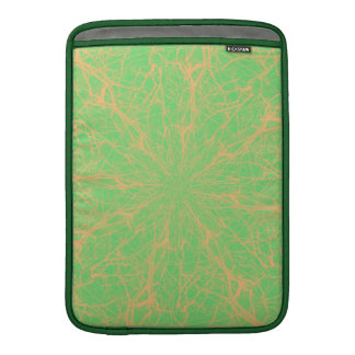 Lime Maze Vertical Sleeves For MacBook Air