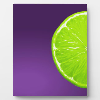 Lime on Purple Plaque