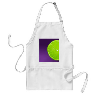 Lime on Purple Standard Apron