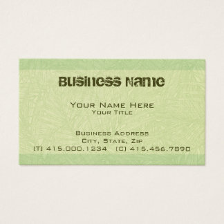 lime palm ~ bc business card