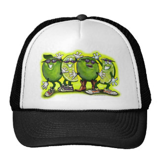 Lime Party Mesh Hats