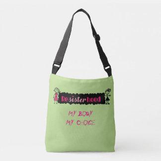 Lime Pink Political My Body My Choice Crossbody Bag