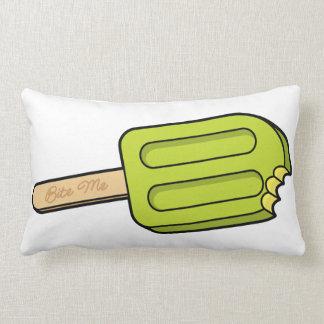 Lime Popsicle Bite Me Pillow
