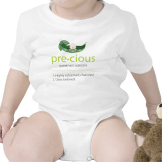 """Lime """"Precious"""" Pea-in-a-Pod Baby Tee"""
