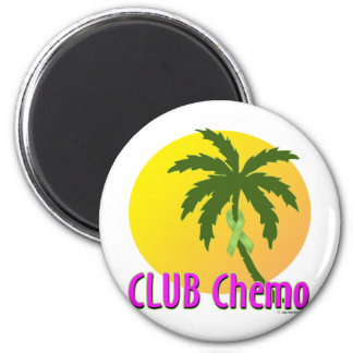 Lime Ribbon 6 Cm Round Magnet