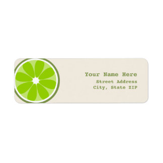 Lime Slice Address Label