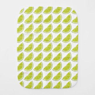 Lime Slice burp pad Burp Cloth
