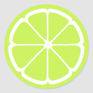 LIME SLICE by SHARON SHARPE Classic Round Sticker
