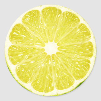 Lime Slice Classic Round Sticker