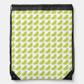 Lime Slice drawstring backpack
