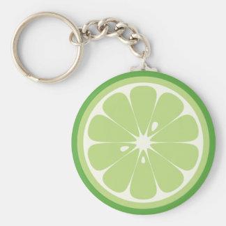 Lime Slice Key Ring