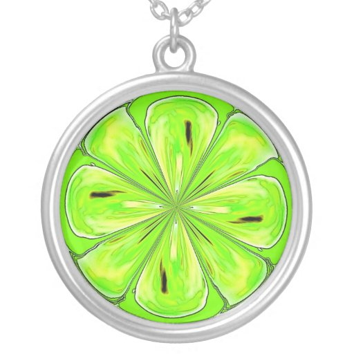 Lime Slice Necklace