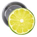 Lime Slice Pinback Button