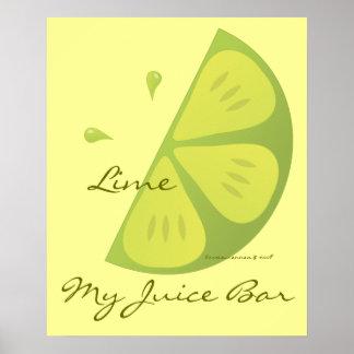 Lime Slice Poster