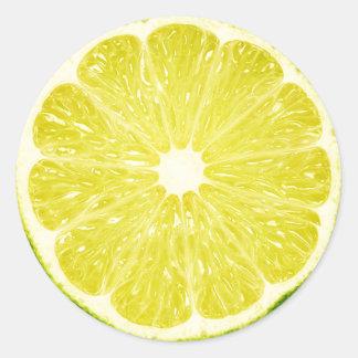 Lime Slice Round Sticker