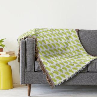 Lime Slice throw blanket