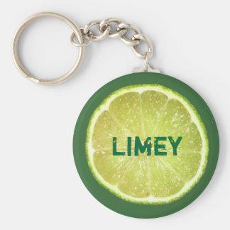 Lime Slices Key Ring