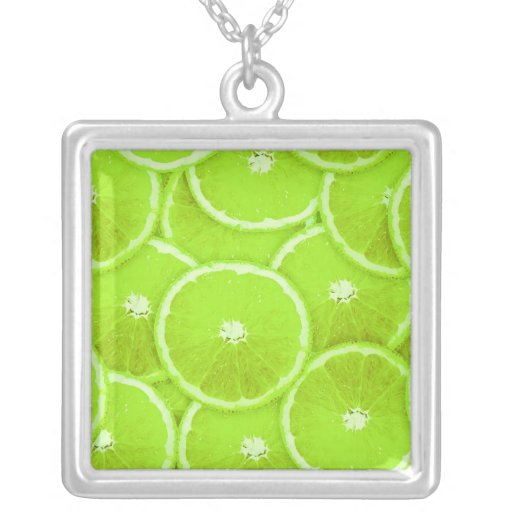 Lime slices necklaces