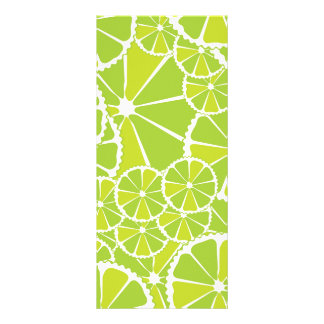 Lime slices rack card template