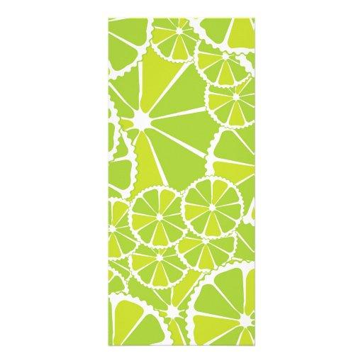 Lime slices full color rack card