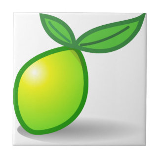 Lime Small Square Tile