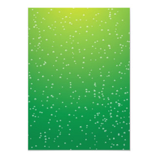 Lime Soda with Tiny Bubbles Background Art 13 Cm X 18 Cm Invitation Card