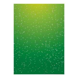 Lime Soda with Tiny Bubbles Background Art Poster