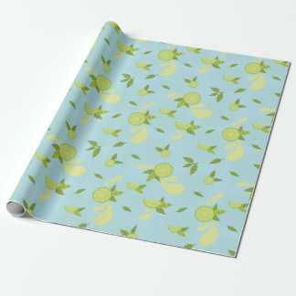 Lime Splash Wrapping Paper